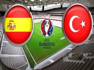 İspanya-Türkiye maçının 11'i