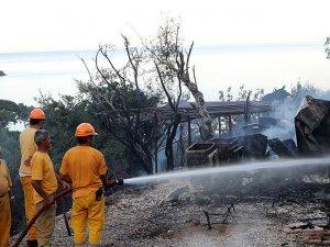 Muğla'da kamp alanında yangın
