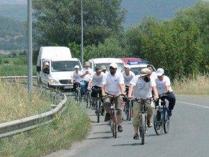 Sığınmacılar için pedal çevirdiler