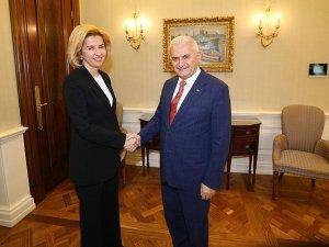 Başbakan Yıldırım Gökoğuz Yeri Başkanı Vlah'ı kabul etti