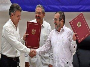 Kolombiya'da hükümet ile FARC arasında ateşkes imzalandı
