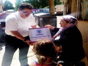 Akşehir'de Akimmed'den gıda paketi yardımı