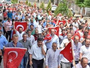 Ömerli'deki jandarma karakolu saldısına vatandaşlardan protesto