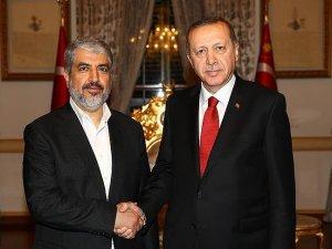 Cumhurbaşkanı Erdoğan Meşal'i kabul etti