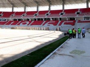 Eskişehir'in yeni stadında çimler seriliyor