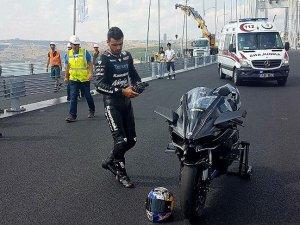 Sofuoğlu Osmangazi Köprüsü'nde test sürüşü yaptı