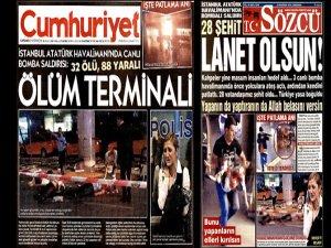 Sözcü ve Cumhuriyet ceset fotoğrafları yayınladı