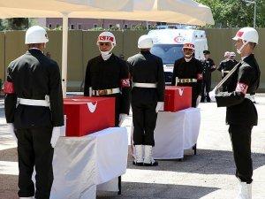 Şehit Uzman Çavuş Ünal ile şehit polis memuru Mustafa Yıldırım toprağa verildi