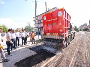 Beyşehir'de soğuk asfaltta yeni teknoloji dönemi