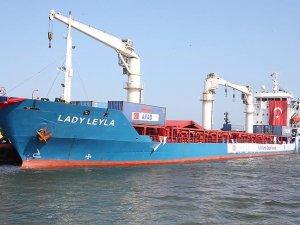 Gazze'ye yardımları ulaştıracak 'Lady Leyla' İsrail'de