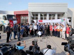 'İyilik gemisi'yle gelen malzemeler Gazze'de
