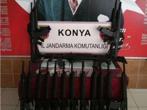 Jandarma yasa dışı üretim tüfekler ele geçirdi