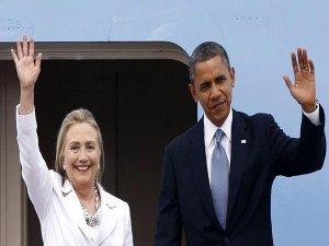 Obama ilk kez Clinton'ın seçim mitingine katıldı