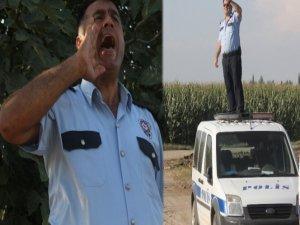 Polis mısır tarlasında yaralı şahıs aradı