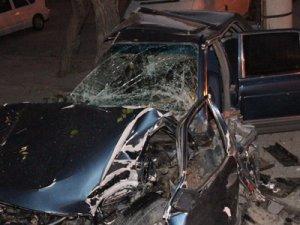 Kazada sürücü ağır yaralandı!