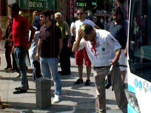 Konya'da belediye otobüsü şoförüne taşlı sopalı saldırı