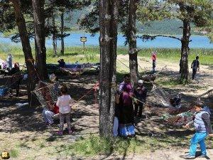 Bayram tatilinde Abant ve Gölcük'e yoğun ilgi