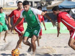 Gazze sahilinde plaj futbolu şampiyonası