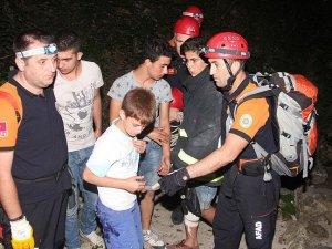 Uludağ eteklerinde kaybolan çocuklar kurtarıldı