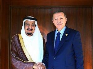 Erdoğan, Suud Kralı Selman ile telefonda görüştü