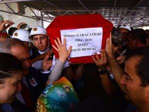 Şehit polis Karacatilki son yolculuğuna uğurlandı