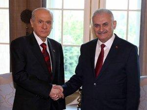 Başbakan Yıldırım, MHP Genel Başkanı Bahçeli ile görüştü