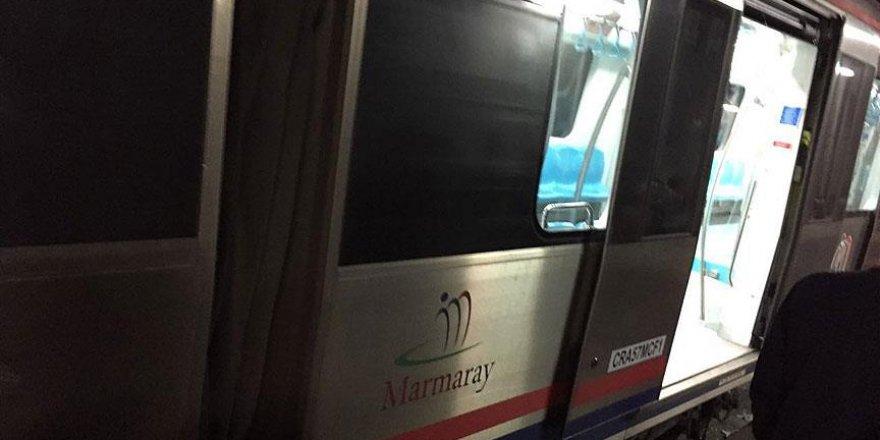 Marmaray'da teknik bir arıza nedeniyle seferler yapılamıyor