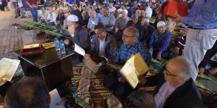 Seydişehir'de şehitler için hatim duası