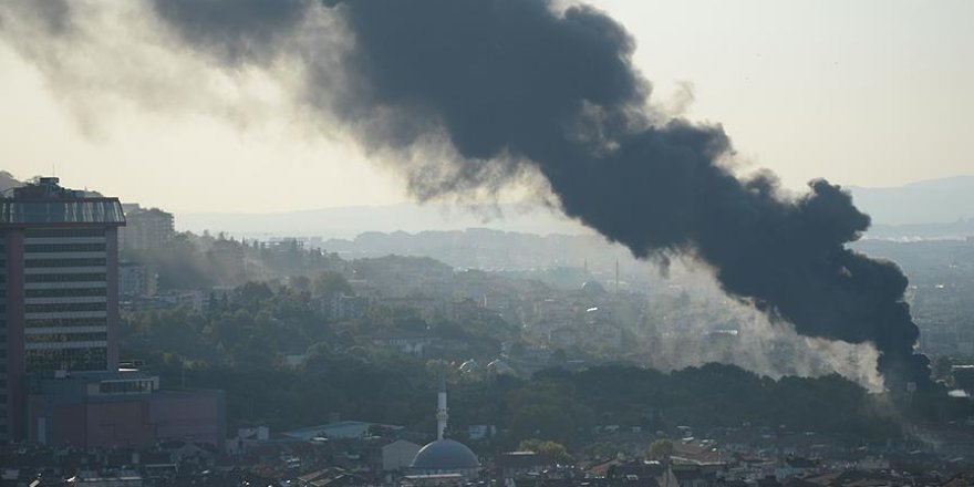Bursa'da balon şişirme merkezinde yangın
