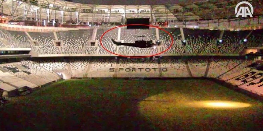 Darbecileri Vodafone Arena'ya kadın pilot indirmiş