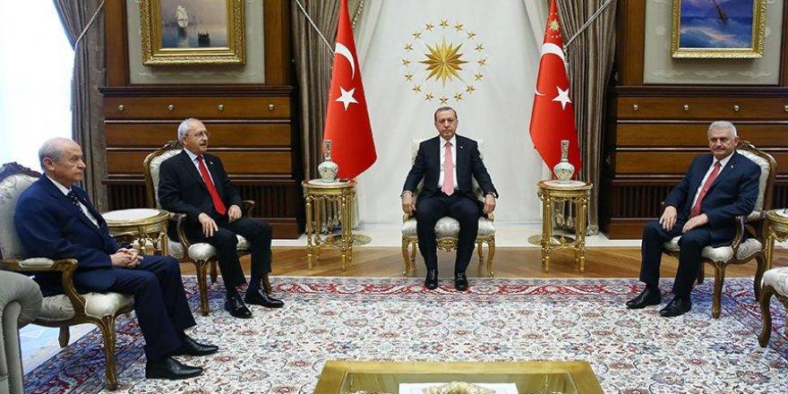 Cumhurbaşkanı Erdoğan liderleri kabul etti