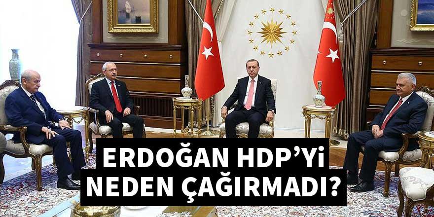 Cumhurbaşkanı Erdoğan HDP'yi neden çağırmadı?