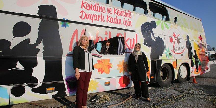 Kadın eğitiminin 'gazi' otobüsü