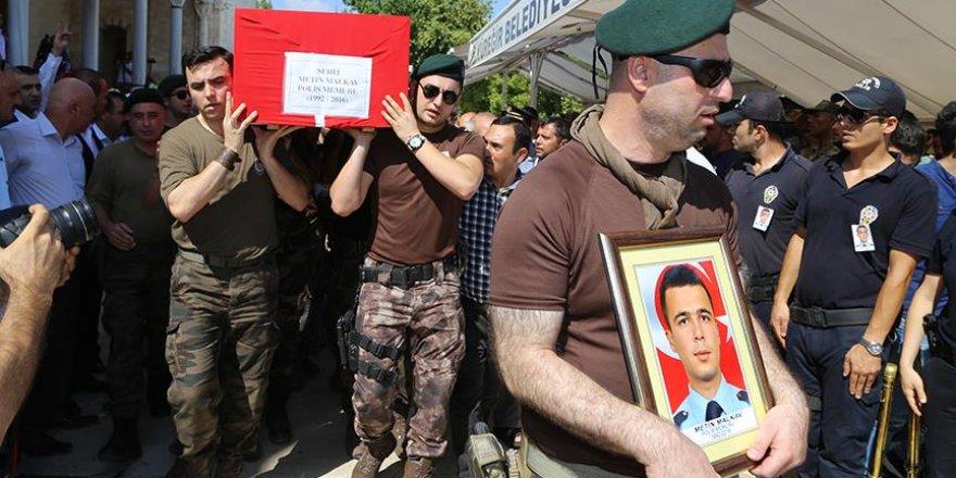 Şehit polis Malkav son yolculuğuna uğurlandı