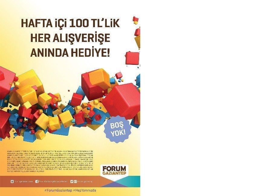 Forum Gaziantep'te Şans Kutusu kazandırmaya devam ediyor