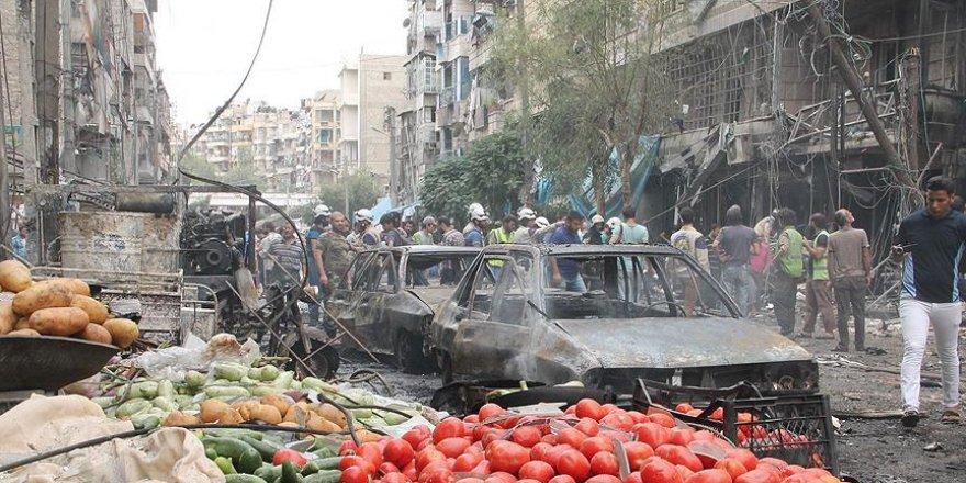 Halep'te pazar yerine saldırı: 15 ölü