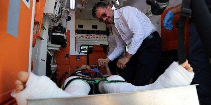Darbe girişiminde yaralanan tekvandocu tekbirlerle karşılandı