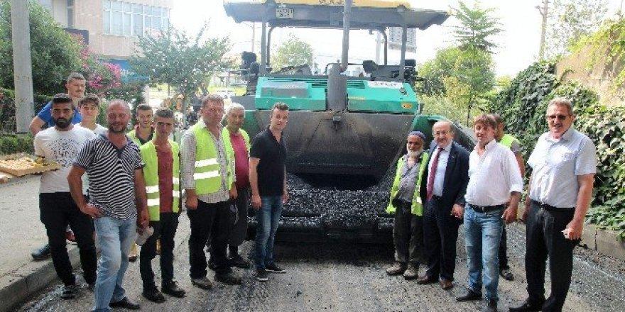 Başkan Gümrükçüoğlu Tanjant Yolu'ndaki çalışmaları denetledi