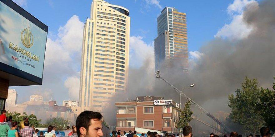 Ataşehir'de yangın