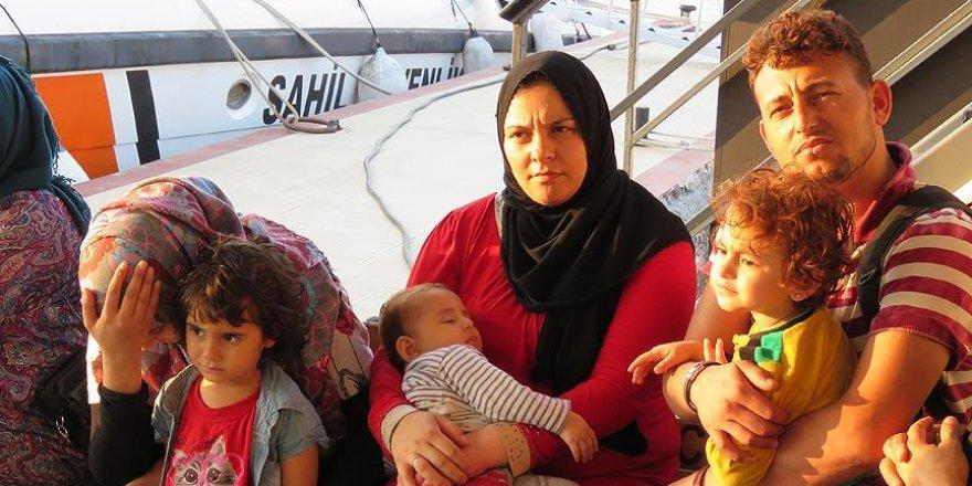 Batmak üzere olan teknedeki sığınmacılar kurtarıldı