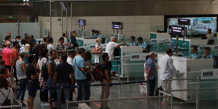 Yabancı ziyaretçi 'havayolunu' tercih etti