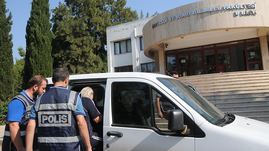 Akdeniz Üniversitesinde gözaltına alınan 147 şüphelinin işlemleri sürüyor