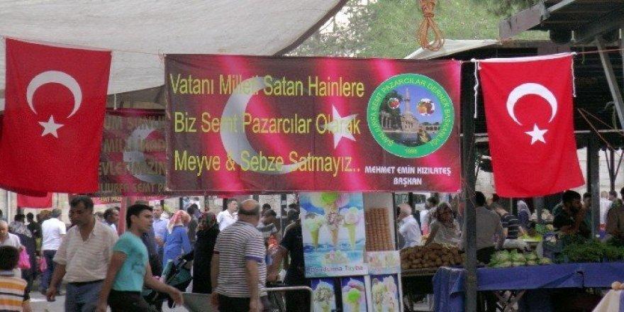 Darbeye destek verenlere pazarda mal satılmıyor