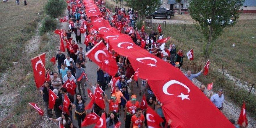12. Gökbel Yaylası Güreşleri 'Demokrasi Yürüyüşü' ile başladı