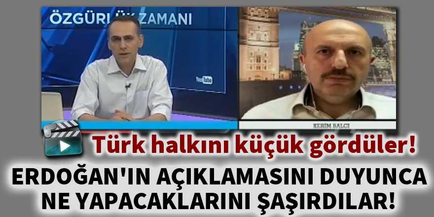 Erdoğan'ın açıklamasını duyunca ne yapacaklarını şaşırdılar!