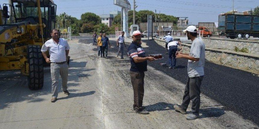 Turgutlu Belediyesi'nden yol yapım çalışması