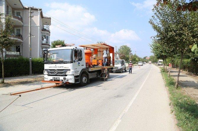 Sapanca'da yollar asfaltlandı