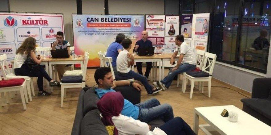 Çan Belediyesinden gençlere destek