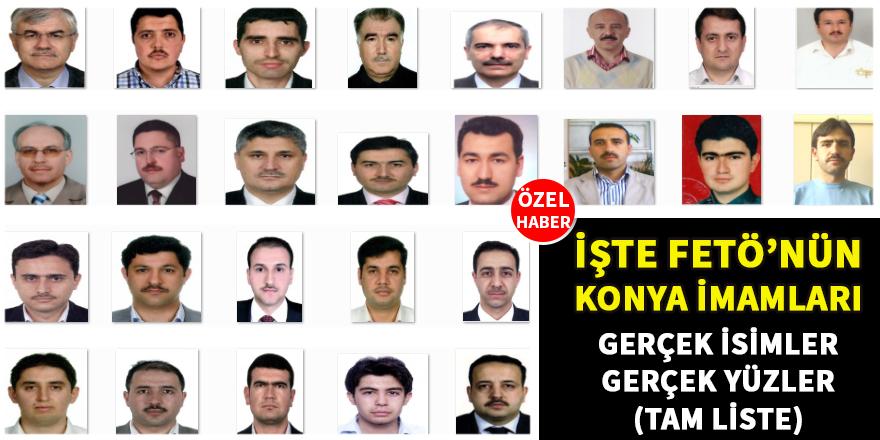 Konya imamlarının ilk defa yayınlanan fotoğraflı listesi