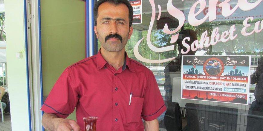 Polis, asker ve şehit yakınlarına ücretsiz ikram